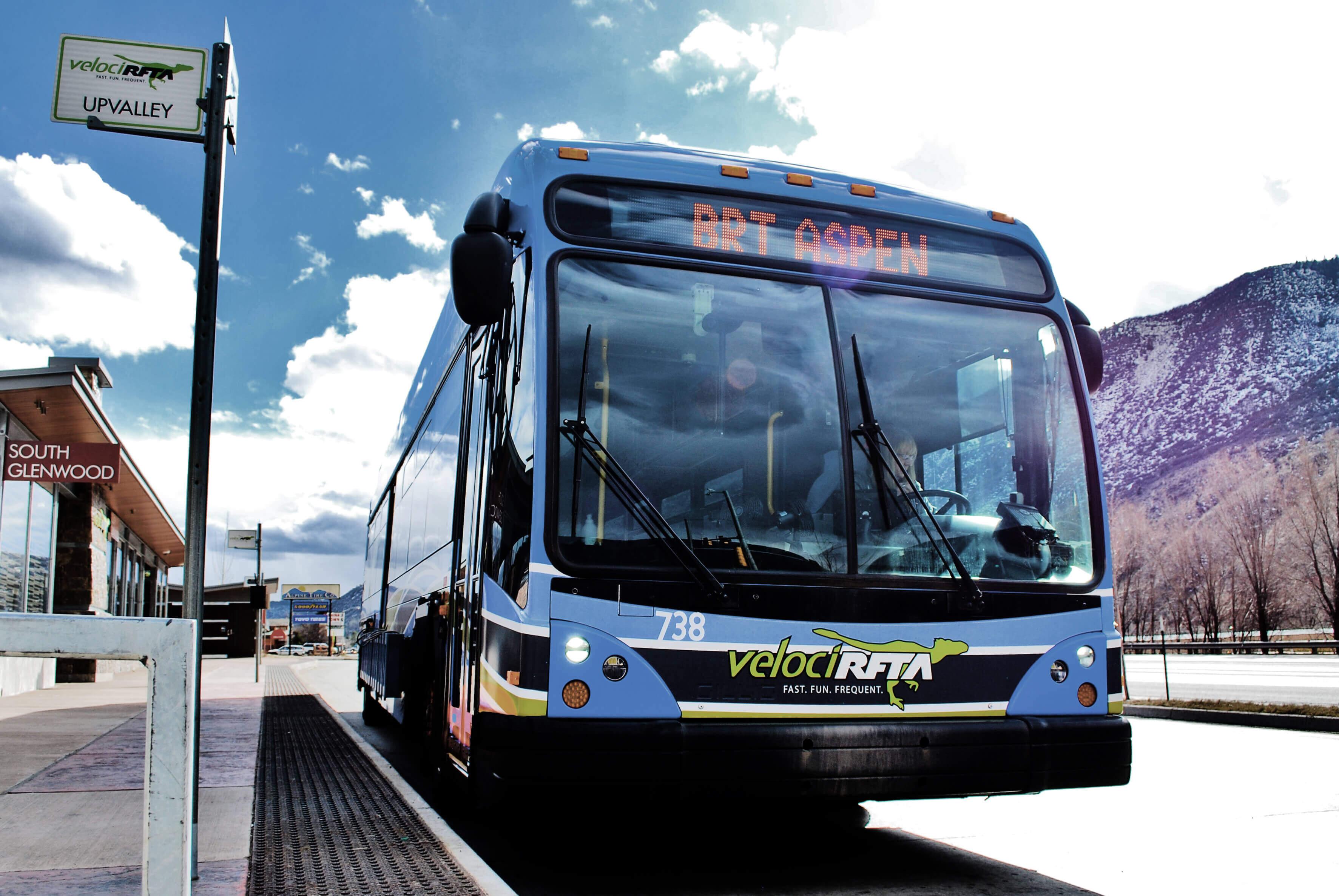 RFTA bus in Glenwood Springs