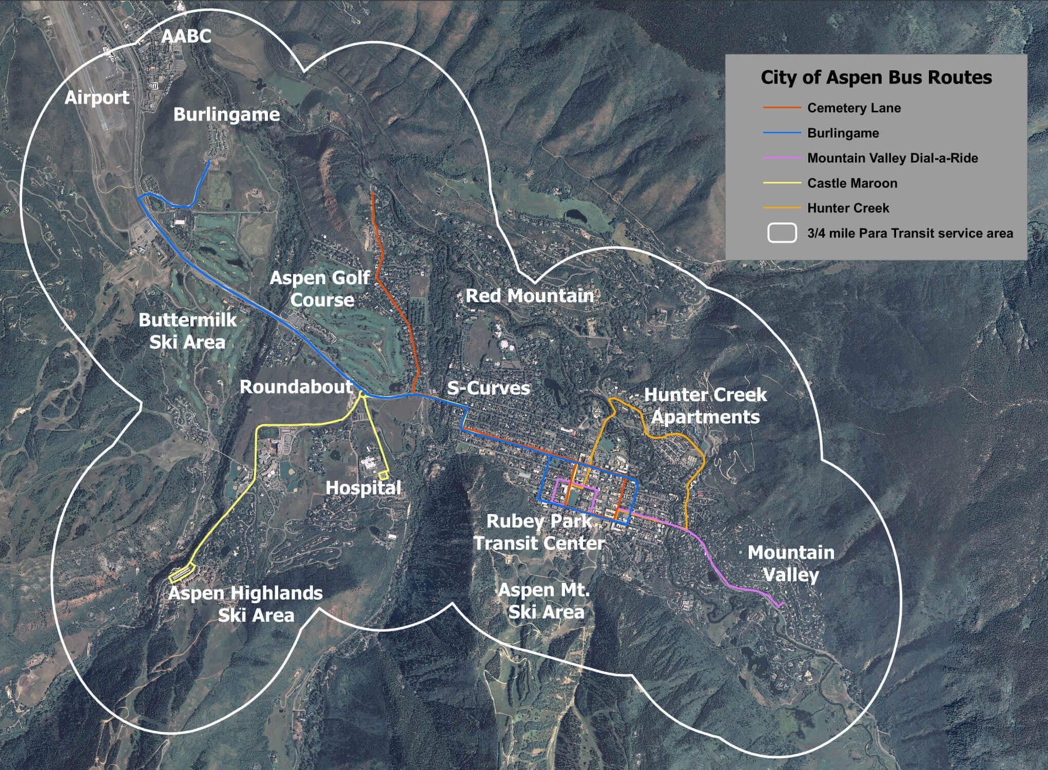 Aspen Services Map